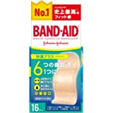 BAND-AID(バンドエイド) 救急絆創膏 快適プラス ワイド 16枚