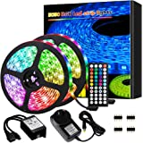 Led Lights, Led Strip Lights,10M 300 LEDs 5050 RGB Rope Lights, IP20 Non Waterproof Color Changing with 20 Colors 8 Light,wit