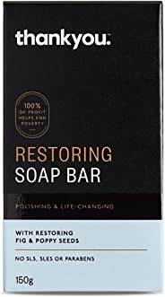 Thankyou Restoring Soap Bar with Fig & Poppy Seeds, 150g