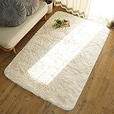 グラムスタイル ラグ ラグマット 洗える シャギー さらさら 190×240cm ホワイト 白 (スノー)