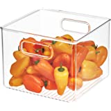 InterDesign Kitchen Pantry and Cabinet Storage and Organization Bin, 8-Inch by 8-Inch by 6-Inch, Clear