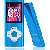 MYMAHDI Bluetooth 5.0 MP3 / MP4 Player with 32GB Memory Card, 1.8'' LCD Screen, Support Up to 128GB, Pedometer/Video/Voice Re