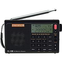 SIHUADON R-108ポータブルラジオFM LW 短波 MW エアバンド DSPレシーバー LCD バッテリーで良…