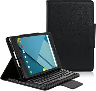 【MOKO】Google Nexus 9/HTC Nexus 9専用PUレザーケース 脱着式Bluetooth キーボード ケース一体型【日本語取り扱説明書付き】 (Google Nexus 9キーボード ケース一体型)