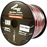 100 ft 10 Gauge awg Red Black Stranded 2 Conductor Speaker Wire Car Home Audio