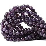 CHEAVIAN 45PCS 8mm Natural Amethyst Gemstone Round Loose Beads Crystal Energy Stone Healing Power for Jewelry Making 1 Strand