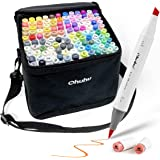 Ohuhu Brush Markers, 120-color Double Tipped Art Marker Set, Brush & Chisel, Alcohol Markers for Coloring Illustration, 1 Alc