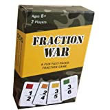 Fraction War Math Game - Fun Math Game to Learn, Compare and Simplify Fractions for 2nd Grade, 3rd Grade, 4th Grade, 5th Grad