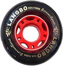 LangBo ドリフトスケート ウィール 2個セット 70mm 72mm 2種類サイズ PUウィール 4代 6代 ドリフトスケート交換ウィール ホイール 発光と非発光ウィールがあり 高弾性 耐摩耗性 多色選択