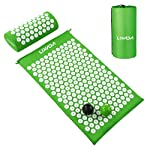 Lixada Acupressure Set Acupressure Mat with Pillow and 2pcs Prickly Massage Balls for Back/Neck/Feet Pain Relief and...