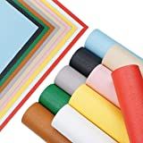 Synthetic Faux Leather Fabric Sheets-10 Solid Colors A4 Size 1.2MM Thickness Litchi Grain Texture Sheets Cotton Back for Maki