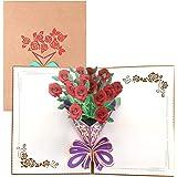 Paper Spiritz 3Dポップアップカード、母の日カード、誕生日カード、記念日は、あなたがよく得て、結婚カード、すべての機会、手作りの贈り物