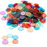 Set of 250 Transparent Color Counting Chips