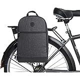 TOURBON Bicycle Pannier Bag Multifuction Backpack Laptop Bike Travel Storage Nylon Waterproof Removable