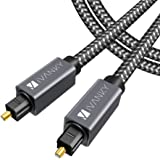 Digital Optical Audio Cable (10 Feet) - [Flawless Audio, Secure Connection] iVanky Slim Braided Digital Audio Optical Cord/To