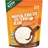 Monk Fruit in the Raw Keto-Certified Zero Calorie Sweetener with Erythritol, Unflavored, 16 Oz