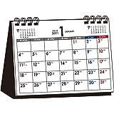 2021年 シンプル卓上カレンダー 月曜始まり A6ヨコ【T5】 ([カレンダー])