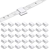 200 Pack LED Strip Clips - iCreating Self Adhesive LED Light Strip Mounting Bracket Clips Holder Cable Clamp Organizer for 10