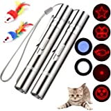 Cat Toys for Indoor Pets,Laser Pointer for Cats Dogs,Interactive Pet Toy, Rechargeable,Make Your Pet Play with You (2 PCS)