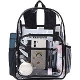 Heavy Duty Clear Backpack for Women Men Waterproof PVC See Through Backpacks