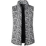 Macondoo Women Sherpa Jacket Sleeveless Winter Zip Up Faux Fur Casual Vest