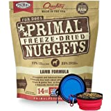 Primal Pet Food - Freeze Dried Dog Food 14-ounce Bag - Made in USA (Lamb)