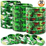 Dinosaurs Silicone Wristbands 30 Pack Dinosaurs World Jurassic Party Supplies for Dinosaurs Theme Party Birthday Party Favors