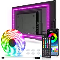 New Fi LEDテープライト 3mx1本 32-75in テレビバックライト APP 40キーリモコン操作 音楽モー…