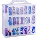 NA Double Sided Toy Storage Organizer Case for Hot Wheels Car, Matchbox Cars, Mini Toys, Small Dolls. Carrying Box Container