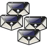 Solar Lights 100 LED Outdoor, Waterproof Wireless Solar Motion Sensor Lights 4Pack, High Lumens Light with 125° Motion Angle