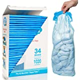 Diaper Pail Refill Bags, 1020 Counts, 34 Bags, Fully Compatible with Arm&Hammer Disposal System