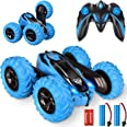 Remote Control Car,2.4GHz Electric Race Stunt Car,Double Sided 360° Rolling Rotating Rotation, LED Headlights RC 4WD High Spe