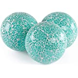 MDLUU 3 Pcs Decorative Orbs, Mosaic Sphere Balls, Centerpiece Balls for Bowls, Vases, Dining Table Decor, Diameter 4 Inches (