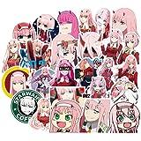 50Pcs Anime Darling in The FRANXX Stickers FranXX 02 Sticker for Kids Laptop Skateboard Toy Stickers (FranXX 02)
