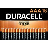 Duracell - CopperTop AAA Alkaline Batteries - Long Lasting, All-Purpose Triple A Battery for Household and Business - 16 Coun