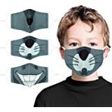 Kids Face Mask Washable Childrens Cotton Fabric Cloth Face Mask 2 Layerwith Adjustable Elastic Ear Loops Reusable Facemasks