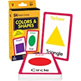 Carson Dellosa Colors and Shapes Flash Cards—Double-Sided, Essential Shapes, Basic Colors, Names With Illustrations, Early Ma