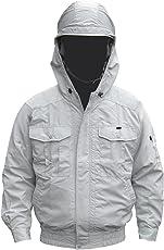 NSP 空調服 服単体 チタンコーティング フード付 肩・袖補強あり シルバー サイズ2L 8207887