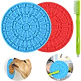 Lick Mat for Dogs 2 Packs - OAPRIRE Dog Lick Mat with Super Suction, Reduce Daily Anxiety, Slow Feeder Lick Mat Suctions to W