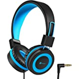 iClever HS14 Kids Headphones, Headphones for Kids with 94dB Volume Limited for Boys Girls, Adjustable Headband, Foldable, Chi