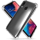 ZeKing Galaxy A20(2019) Case Anti-Scratch Crystal Clear Flexible TPU Silicone with Four Corner Bumper Protective Case Cover C