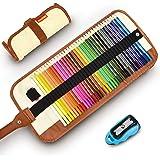 色鉛筆 36色画材セット COVACURE 塗り絵 プレゼント用 子供、学生、大人向け 学校教材用 野外写生 室内絵作り 鉛筆削り、収納ケース付き [並行輸入品]
