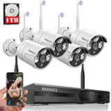 【Expandable 8CH&Audio】 Wireless Video Security Surveillance Camera System with Hard Drive ,OOSSXX 8CH HD 5MP Home NVR/DVR Kit