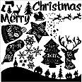 ウォールステッカー クリスマス 飾り 60×60cm シール式 装飾 オーナメント ツリー リース クリスマス 壁紙 雑貨 ガラス 窓 DIY サンタ プチリフォーム パーティー イベント 賃貸 wsm-013018-ws