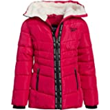 Reebok Girls' Winter Puffer Jacket with Sherpa Hood
