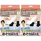 【 カラダのプロが設計開発 】 漢医美健 かかと靴下 2個セット かかと ケア 靴下 角質 保湿 ソックス めぐりMAX
