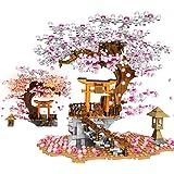 桜の木 積み木 ビルディング ブロック 鳥居 おもちゃ 風景セット LEDライト付き 女の子 男の子