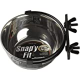 MidWest Homes for Pets Snap'y Fit Stainless Steel Food Bowl/Pet Bowl, 10 oz. for Dogs, Cats, Small Animals