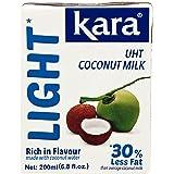 Kara UHT Coconut Cream Milk Light (Less Fat), 200 ml