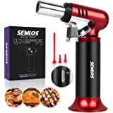 Semlos Butane Torch, Cooking Torch Refillable Culinary Kitchen Torch with Safety Lock & Gas Window Gauge for Baking, Brulee C